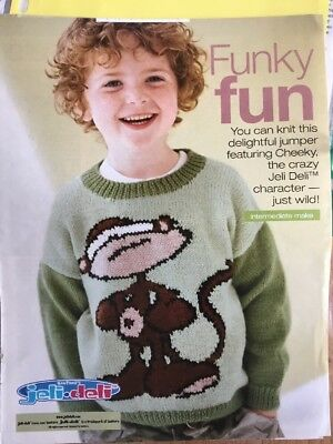Alan Darts Cheeky Jeli Deli Character Sweater Knitting Pattern Eur