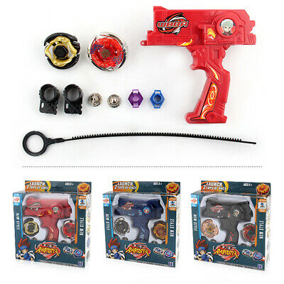 Rare Beyblade Set Fusion Metal Fight Master 4D Top Rapidity With Launcher GripL7