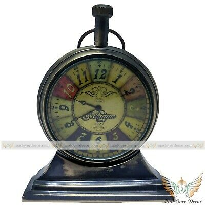 "Collectible Antique Finish Paris France Brass 2"" Table Trophy Pocket Watch"