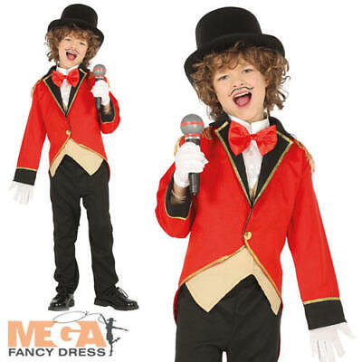 Ringmaster Boys Fancy Dress Circus Showman Kids Tamer World Book Day Costume