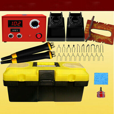 New 25/50W Crafts Gourd Wood Multifunction Pyrography Machine Heating Kit Tools