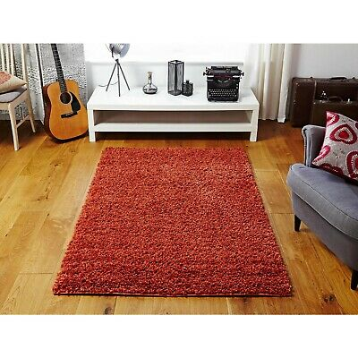 Small To Extra Large Modern Non Shed Shaggy Carpet  Rugs Floor Mat