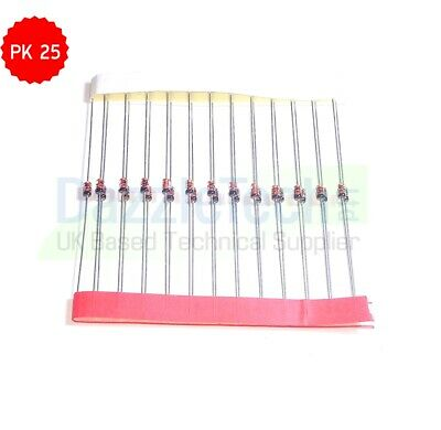 25 x 1N914 High Speed Signal Switching Diode DO-35 Fairchild in packs of 25