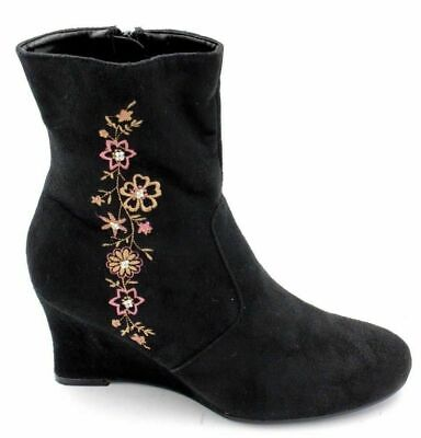 e9b3d00323e NATURALIZER B.W.S. Women NWOB Wedge Ankle Booties Size 5.5 Black Suede