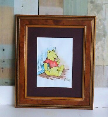 Lovely Framed Winnie The Pooh Picture *Original Pencil Signed & Dated 2000