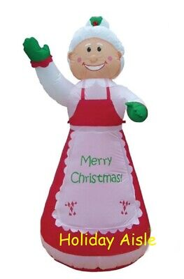 7 Ft MRS SANTA CLAUS Lighted Outdoor Air Blown Inflatable