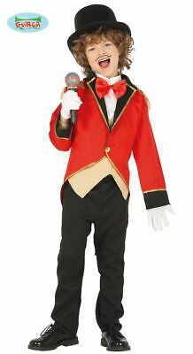Boys Circus Ringmaster Costume Showman Book Week Child Fancy Dress
