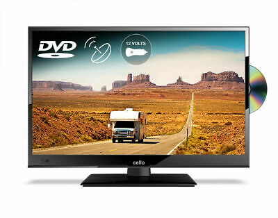 "CELLO 24"" inch 12 volt LED TV DVD FREEVIEW HD & SAT, USB HDMI CARAVAN TV 12v"