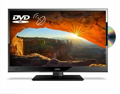 """CELLO 24"""" inch LED TV FREEVIEW HD BUILT IN DVD PLAYER & SATELLITE TUNER USB HDMI"""