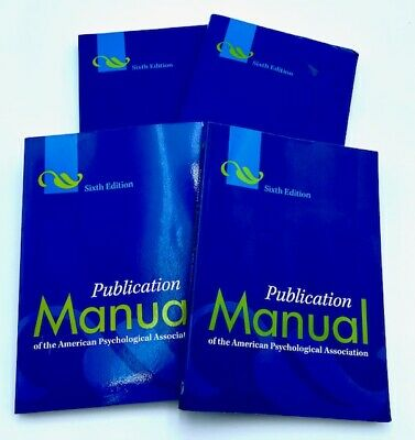 *Publication Manual of the American Psychological Association 6th Edition APA