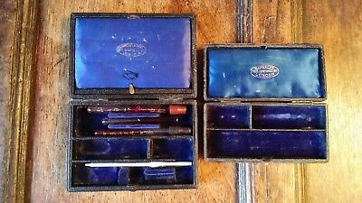 1900's Hawksley & Sons Antique Medical Scientific Instruments & Boxes / Cases