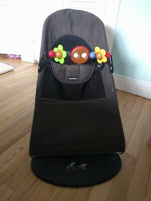 dcef8a876 BABY BJORN BOUNCER Balance Soft ORGANIC Cotton Brown + wooden toy ...