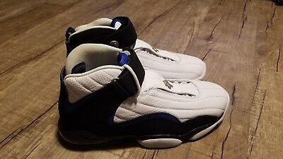huge selection of 79346 2e681 Nike Air Penny IV 4 White Black-Blue Orlando Magic 864018-100 Sz10