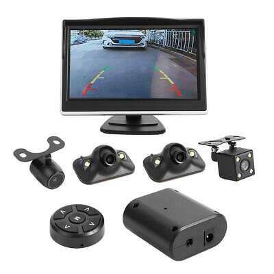 "360° Bird View System 4 Camera Car DVR Recording Parking View Cam w/ 5"" Monitor"