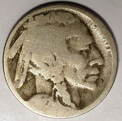 "1927-D 5C Buffalo Nickel, 17rr2510 ""Only 50 Cents for Shipping""*"
