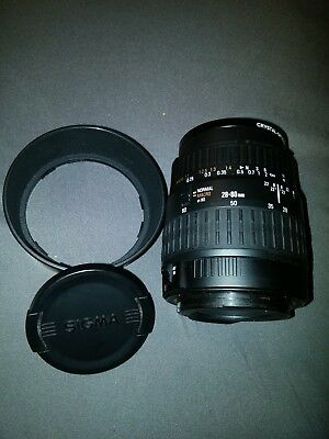 Sigma 28-80mm Auto Focus Macro Zoom Lens LIGHTLY USED FREE SHIPPING!