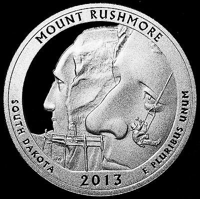 2013-S 25C ATB Quarter Mount Rushmore ccl GDC Proof 90% Silver 50 Cents Shipping