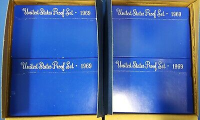 Shipping Box of 20 United States 1969 S Proof Sets Original Government Packaging