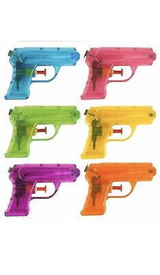 Small Water Gun Orange And Pink 11Cm Kids Outdoor Party Toy Gift