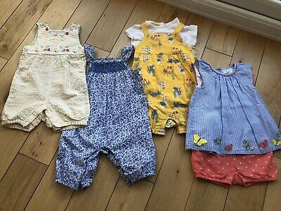 Girls Summer Romper / Shorts Bundle 12-18 Month Jojo Maman Bene Boden John Lewis