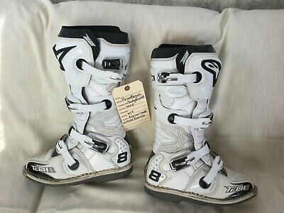 ALPINESTARS BOOT TECH 8 RS WHITE VENTED SIZE 8 Used in PointBreak Film