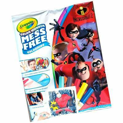 Crayola Incredibles 2 Color Wonder Mess Free Magic Colouring Book & Pens Set