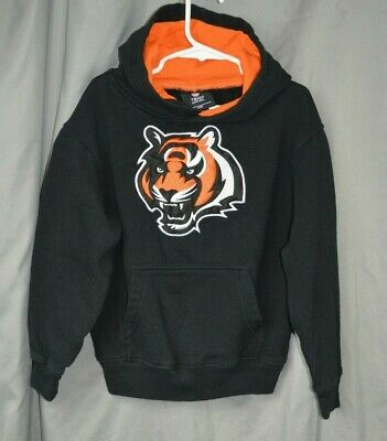 1b26bccbcaf YOUTH KIDS NFL Cincinnati Bengal Black Orange Hoodie Size 7 -  13.00 ...
