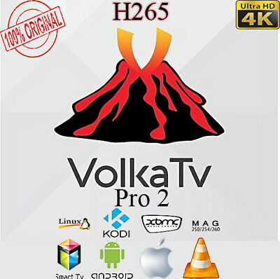 Volka iptv Pro 2 Subscription 12 months,smart IPTV, androidTV box,Mag,H265,VOLKA