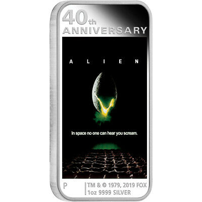 2019 Alien 40th Anniversary 1oz Silver Proof Coin