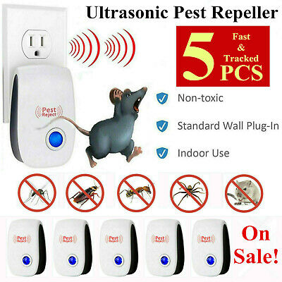 5PCS Ultrasonic Pest Repeller Control Electronic Mice Mosquito Plug in Repellent