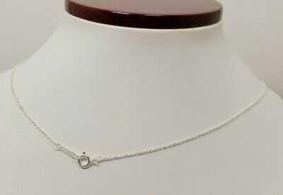 """Tiffany & Co Womens 18"""" Sterling Silver Fine Chain Necklace"""