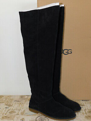 ecd03c1d484 New Nib Womens Size 9 Black Ugg Loma Over The Knee Suede Boots 1095394
