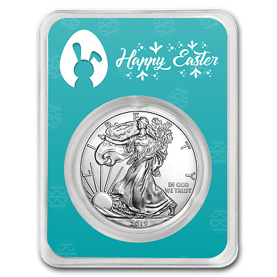 2019 1 oz Silver American Eagle - Happy Easter - SKU#186883