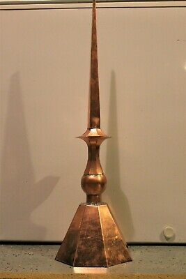 Finial, Roof Spire. Copper Sculpture. Made In Usa