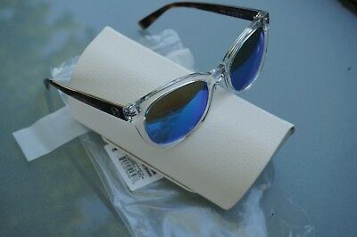 95f3046012 New Michael Kors Women s Mirrored Round Clear Blue Sunglasses NWT OMK6019