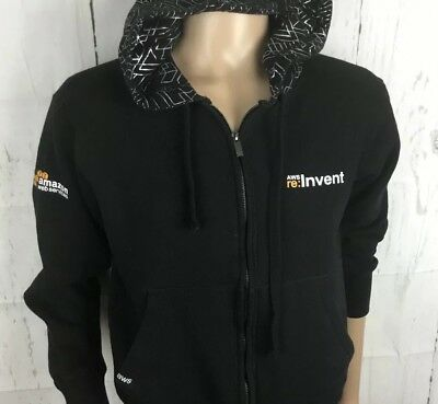 Amazon Web Services Hoodie Sweatshirt AWS 2015 Re:Invent Graphic Men Sz Small