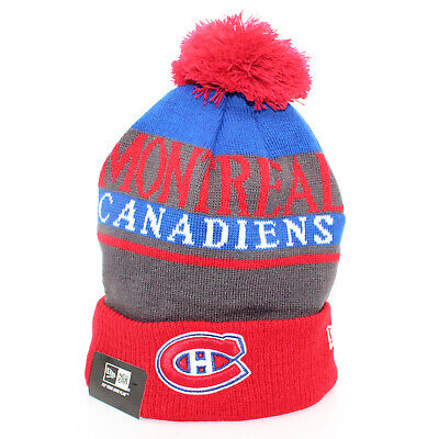 21a4a74423c MONTREAL CANADIENS NHL Sports Knit Cuffed Fitted Pom Pom NEW ERA Hat