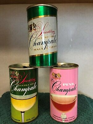 CHAMPALE 12 OZ Beer Cans-3 different ones