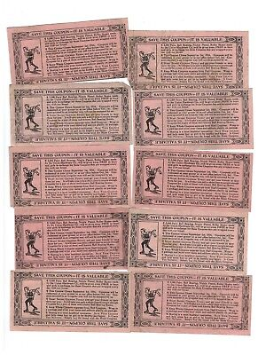 10 General Baking 1/2 Coupons for Union Hardware Roller Skates