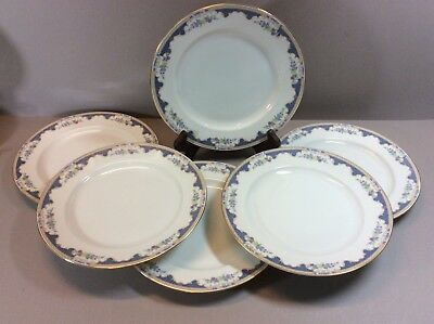 Vintage Royal Bayreuth BavariaPorcelain Set Of 6 Luncheon Plates Corona Pattern