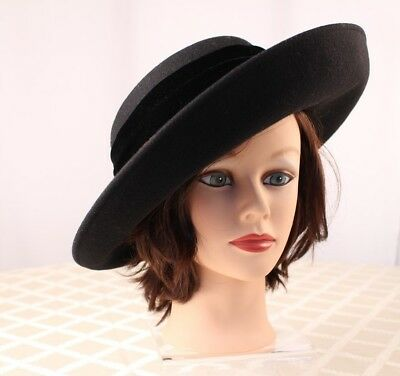 ERIC JAVITS  Black with Velvet Velour Bow Women Hat -  300.00  c31adafdd568