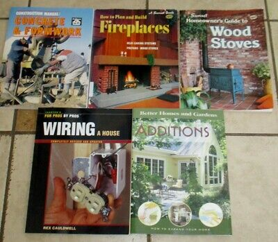 Lot 5 Home HOW TO Books Additions Concrete Fireplaces Woodstoves Wiring House