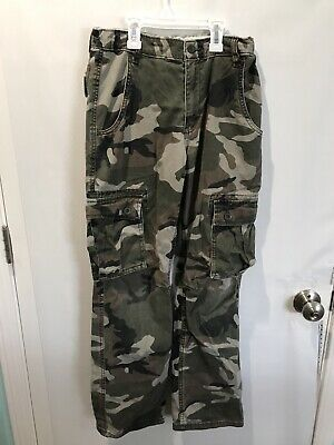 b2d1c9f32c8c4 OLD NAVY BOYS Youth Camoflauge Cargo Pants Small S (6-7) Green Army ...