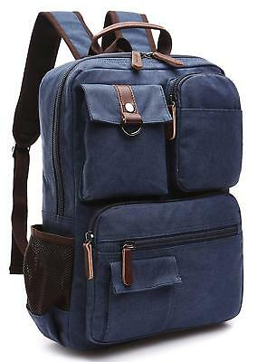 Retro Vintage Canvas Backpack Rucksack Travel Sports Satchel School Hiking  Bag 47fa4c15e0a58