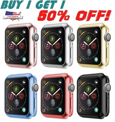 For Apple Watch Series 4 40mm 44mm Snap On Bumper Hard Case Cover Full Body