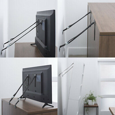 Home TV Furniture Anti-tip Wall Straps Belt Anchor Heavy Duty Metal Mounting