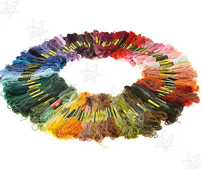 Embroidery Thread Cross Stitch Floss Sewing Skeins Cotton 200pcs