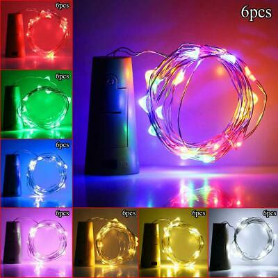 2M 20 LED Cork Copper Wire Fairy String Lights Wine Bottle For Xmas Party Decor