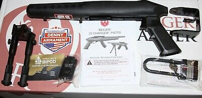 Ruger 10/22 Charger Stock NEW with Bipod. manual and Lock
