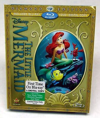 The Little Mermaid (Blu-ray/DVD, 2013, 2-Disc Set, Diamond Edition) - SEALED